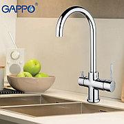 Смеситель для кухни с питьевым каналом хром Gappo G1052-8