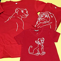 Семейные футболки Король Лев. Печать на футболках