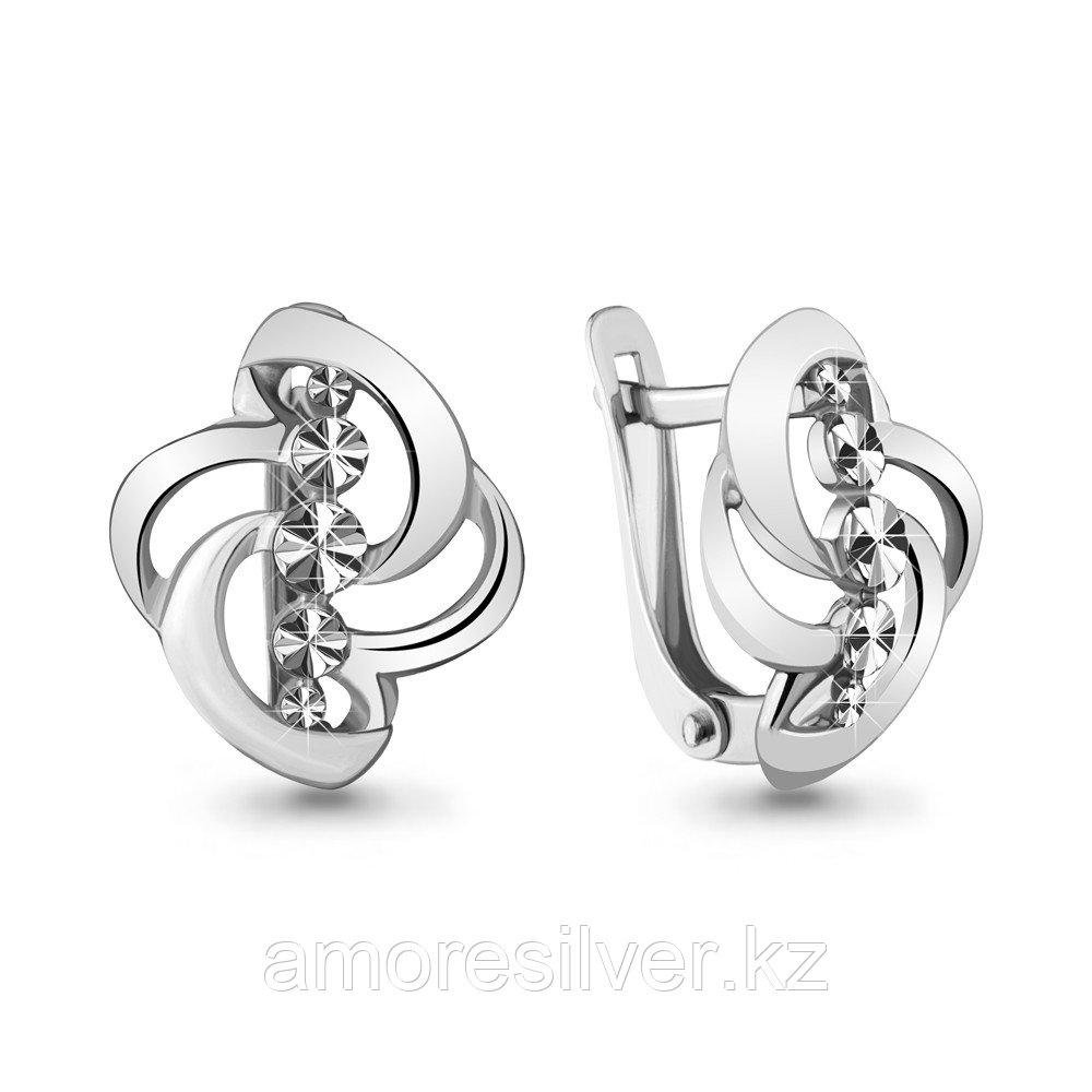 Серьги Aquamarine серебро с родием, без вставок 33690,5