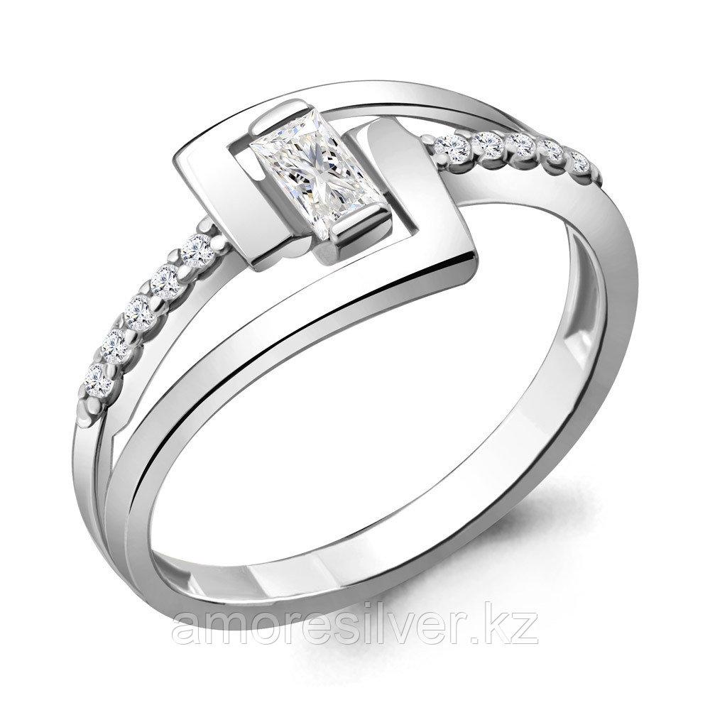 Кольцо Aquamarine серебро с родием, фианит 68700А.5