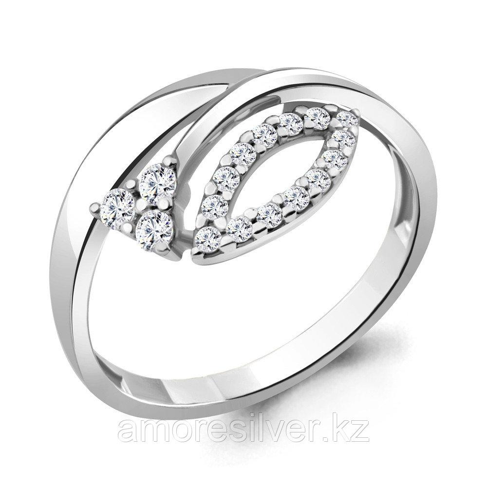 Кольцо Aquamarine серебро с родием, фианит 68709А.5