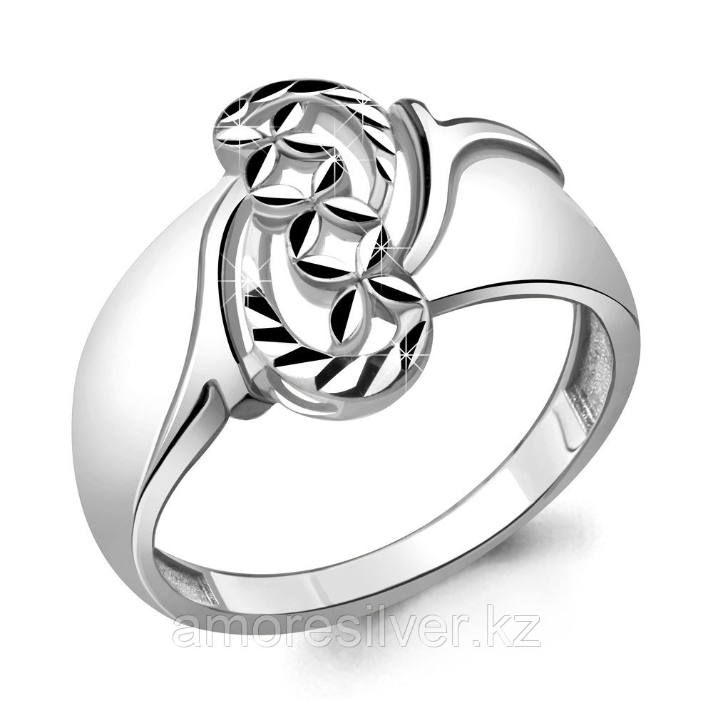 Кольцо Aquamarine серебро с родием, без вставок 54759.5