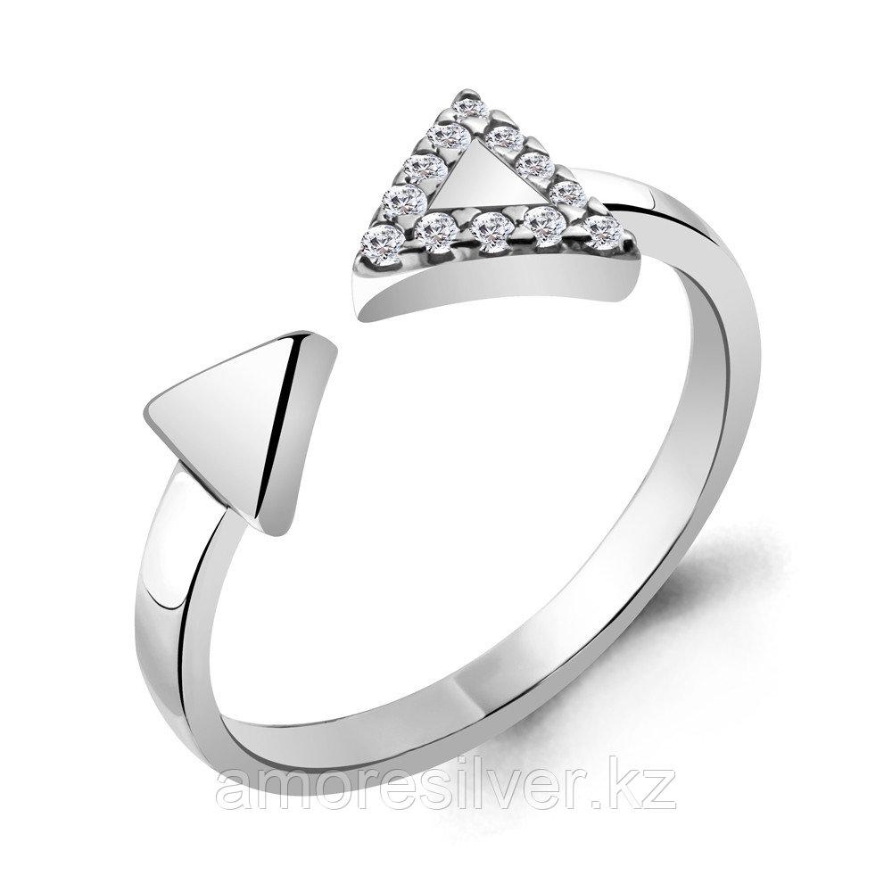 Кольцо Aquamarine серебро с родием, фианит 68674А.5