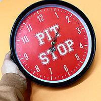 Брендирование часов, нанесение логотипа на часы, диаметр 25 см