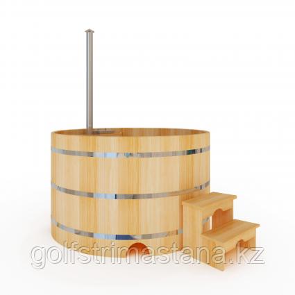 Купель-Фурако д. 200 см. из кедра / круглая / с подогревом (Печь внутри)