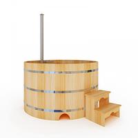 Купель-Фурако д. 150 см. из кедра / круглая / с подогревом (Печь внутри)
