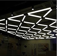 Интерьерные светодиодные светильники в виде горизонтальных трубок