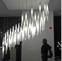 Интерьерные светодиодные светильники в виде вертикальных трубок