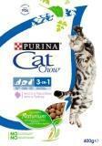 CAT CHOW 400г 3 в 1 зубы, шерсть, уринари сухой корм для кошек Кэт чау, фото 1