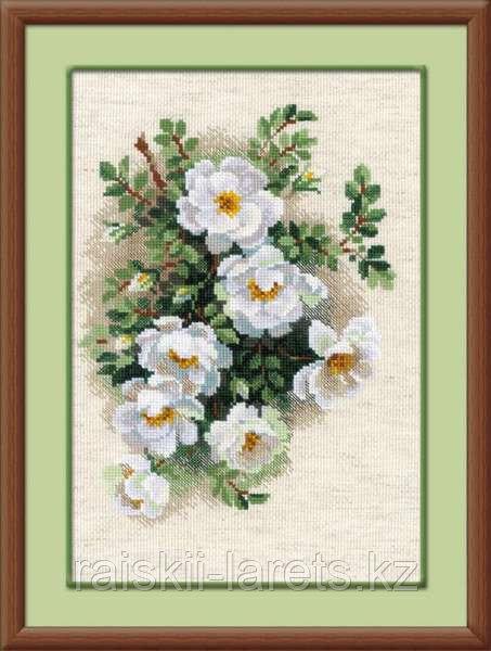 """Набор для вышивания крестом """"Белый шиповник""""  1351"""