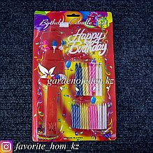 Набор для праздничного торта. Материал: Пластик. Цвет: Разные цвета.