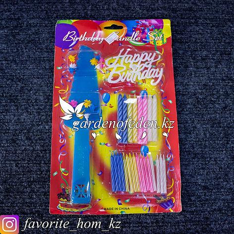 Набор для праздничного торта. Материал: Пластик. Цвет: Разные цвета., фото 2