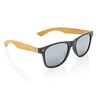 Солнцезащитные очки Wheat straw с бамбуковыми дужками, черный, Длина 14,5 см., ширина 3,5 см., высота 5,3 см.,
