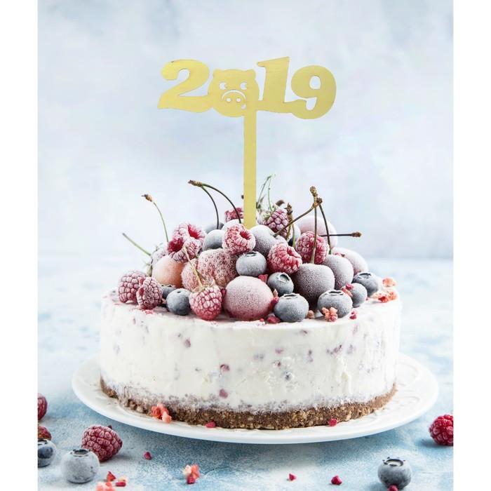 """Украшение для торта """"2019"""" хрюшка"""