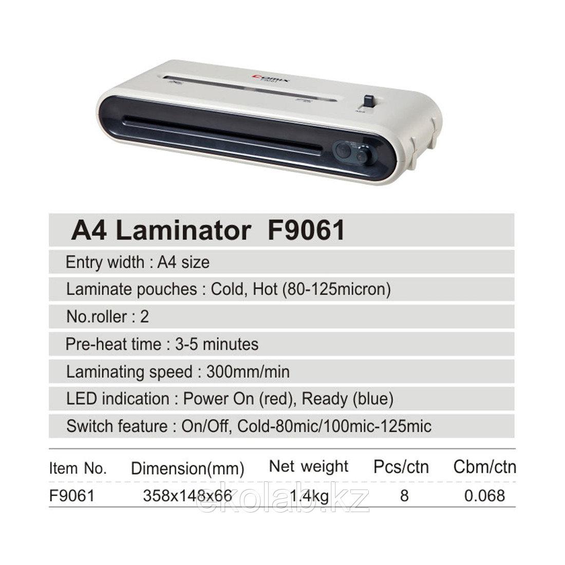 Ламинатор COMIX F9061 А4, 2 вала, 80-125 мкм, 30 см/мин