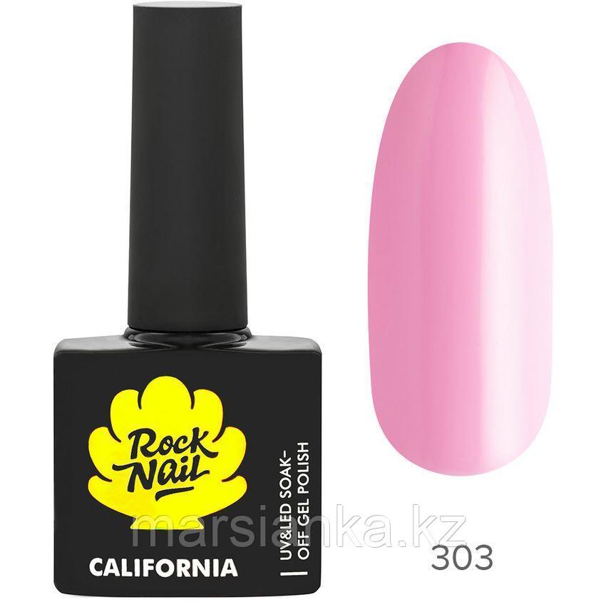 Гель-лак RockNail California #303 Flamingo, 10мл
