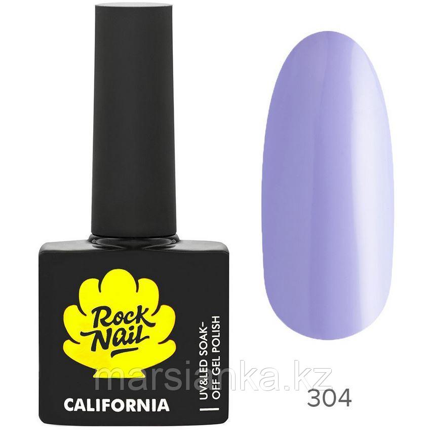 Гель-лак RockNail California #304 Ultra Violet, 10мл