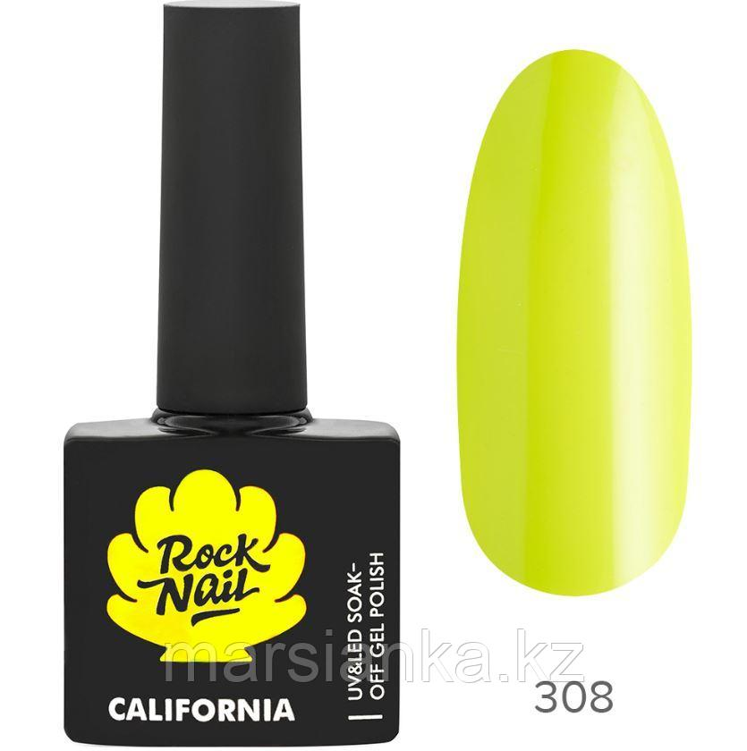 Гель-лак RockNail California #308 Lime Peel, 10мл