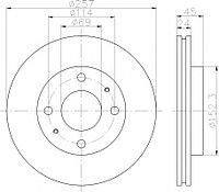 Тормозные диски Hyundai Matrix (01-10, передние, Optimal, D256)