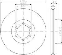 Тормозные диски Hyundai Terracan (01-06,передние, Lpr,D303)