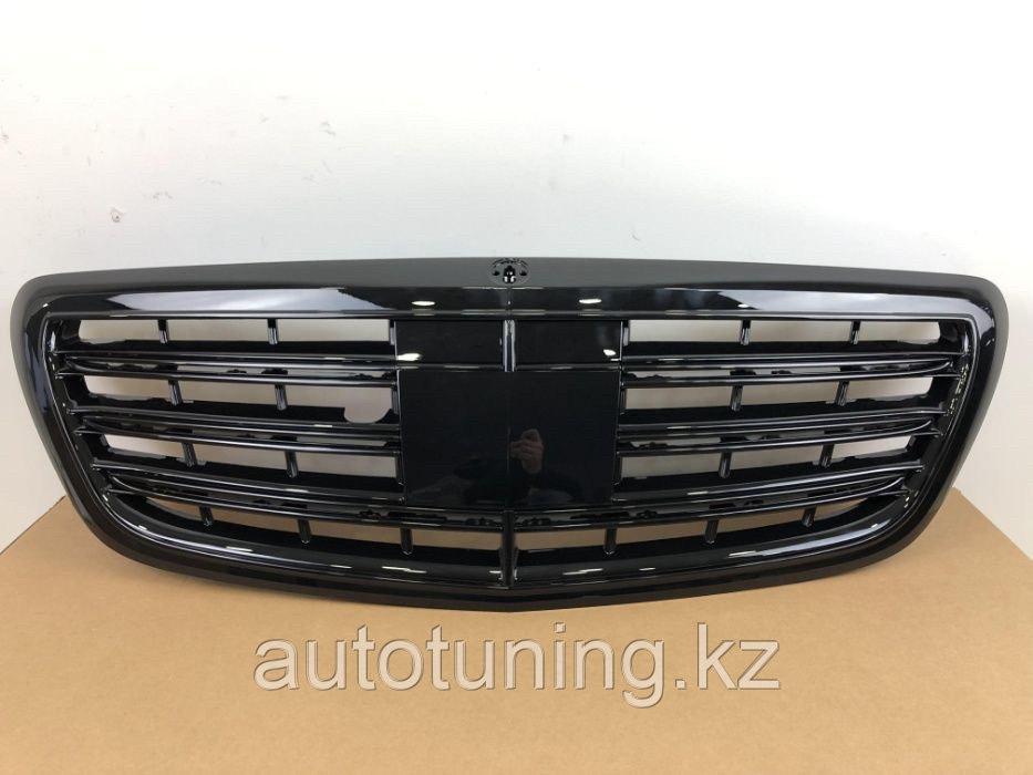 Решетка радиатора BLACK на Mercedes Benz S-class W222 2013-2019