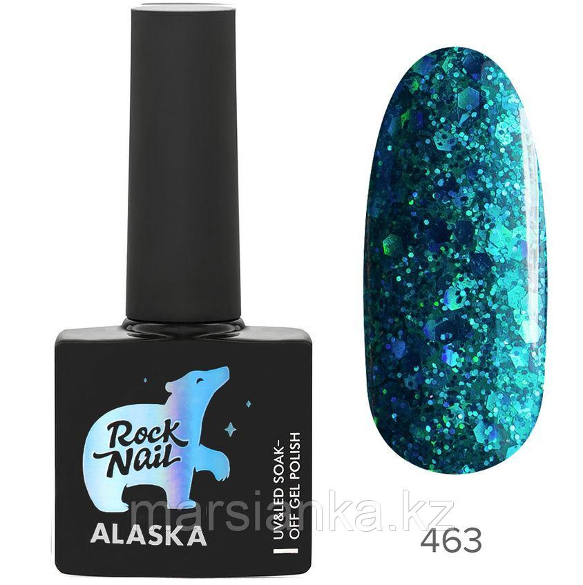 Гель-лак RockNail Alaska #463 Aurora Borealis, 10мл