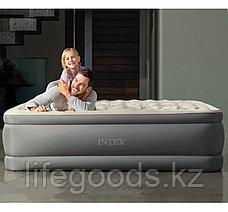 Надувная кровать двуспальная со встроенным насосом и USB-портом Intex 64926, фото 2