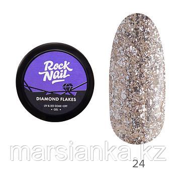 Гель-лак RockNail Diamond Flakes #24 Antique