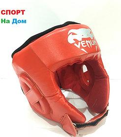 Боксёрский шлем  Venum Размер S Кожзам (цвет красный)