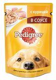 Pedigree 100г  с курицей Педегри Влажный корм Для взрослых собак всех пород, фото 1