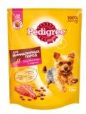 Pedigree 600г Корм Для взрослых собак миниатюрных пород с говядиной