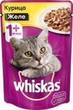 Whiskas Желе с Курицей Вискас пауч влажный корм для кошек, 85г.