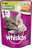 Whiskas  паштет утка Вискас пауч влажный корм для кошек, 85г