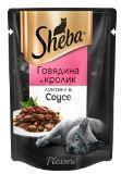 Sheba Pleasure 85г говядина и кролик паучи для кошек