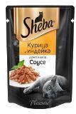 Sheba Pleasure 85г курица с индейкой, консервы для кошек