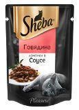 Sheba Pleasure 85г говядина в соусе, консервы для кошек