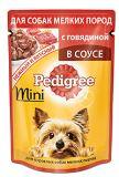 Pedigree 85г с говядиной в соусе Влажный корм для взрослых собак мелких пород, Педегри, фото 1