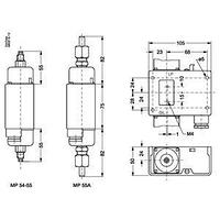 060B018266 Danfoss дифференциальное реле давления MP55A