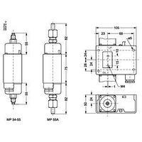060B029666 Danfoss дифференциальное реле давления MP55А