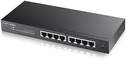 Zyxel GS1900-8 Интеллектуальный коммутатор Gigabit Ethernet с 8 разъемами RJ-45