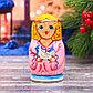 Матрёшка 3-х кукольная «Ангел рождественский», 11 см, фото 3