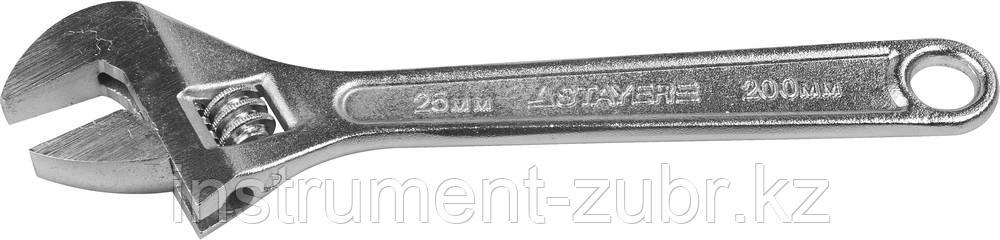 Ключ разводной, 200 / 25 мм, STAYER