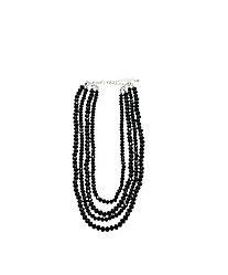 Колье черные бусы  Brosh Jewellery. Тренд 2020г