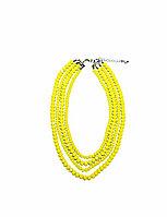 Колье желтые бусы Brosh Jewellery. Тренд 2020г