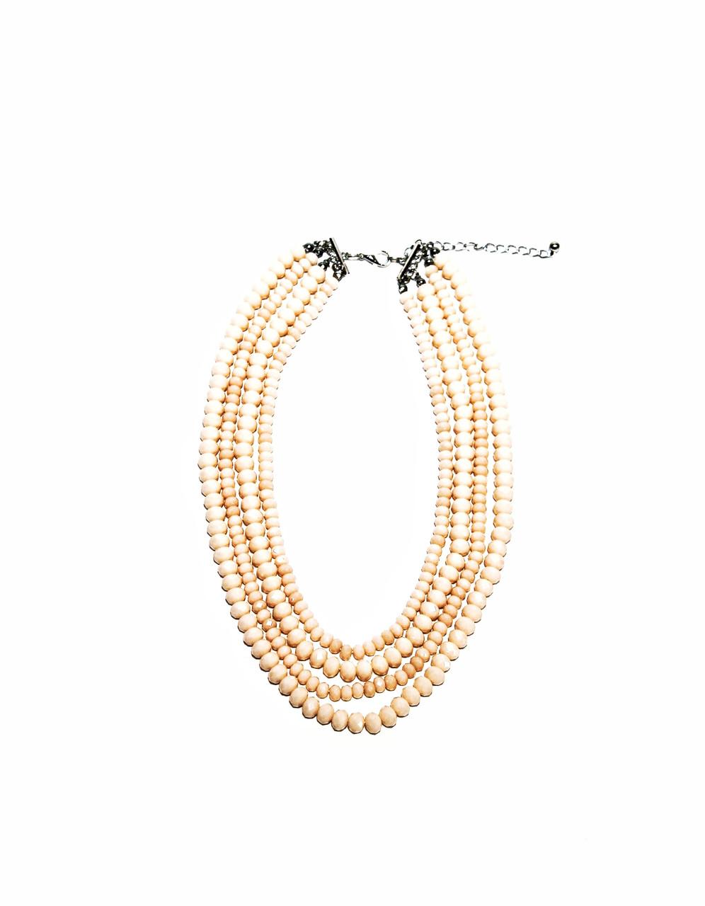 Колье розовые бусы  Brosh Jewellery. Тренд 2020г