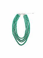 Колье зеленые бусы Brosh Jewellery. Тренд 2020г