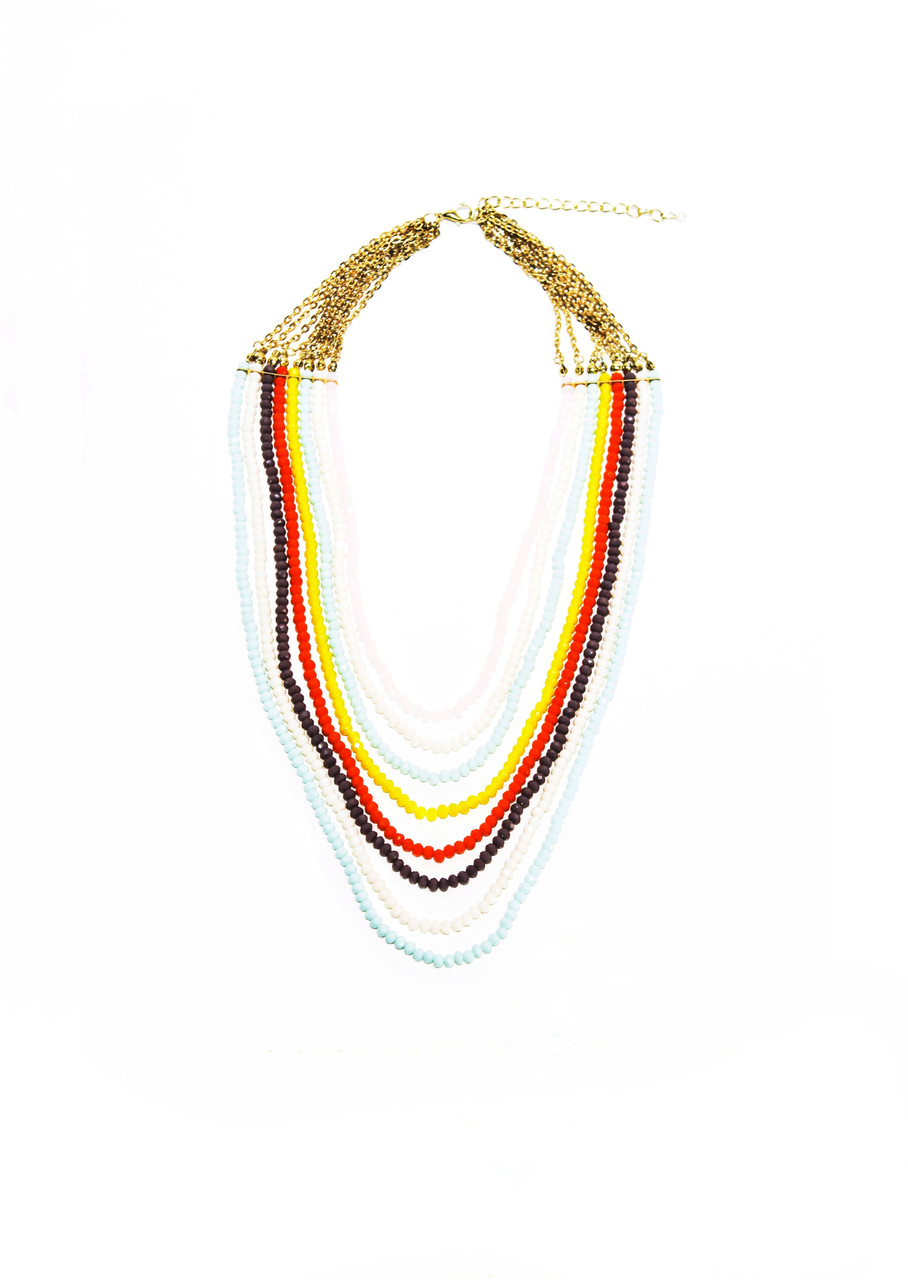 Колье, массивные бусы  Brosh Jewellery. Тренд 2020г
