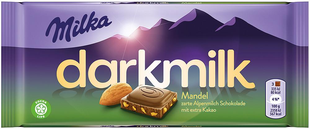 Milka Dark ALmond (85 грамм)  (25 шт. в упаковке)