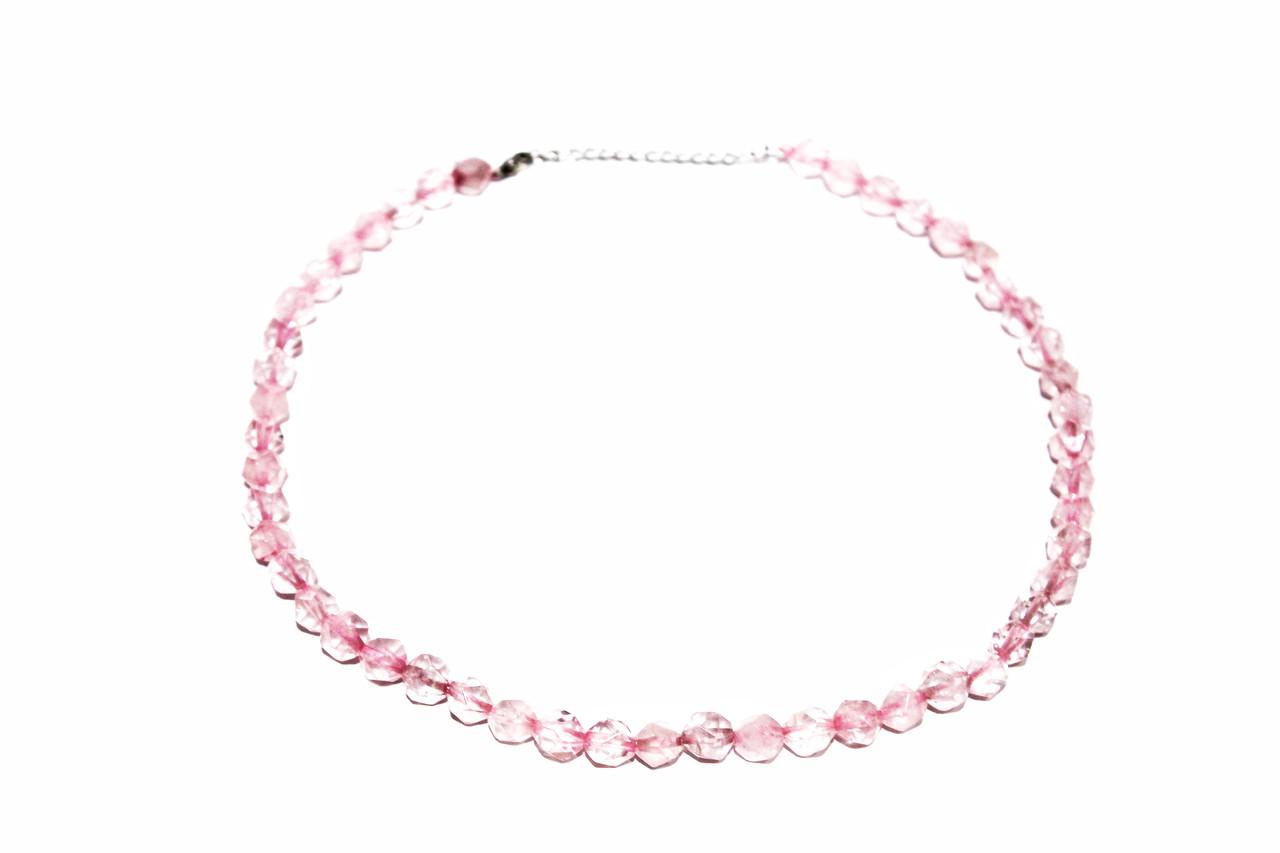 Колье, розовый Кварц  Brosh Jewellery. Тренд 2020г