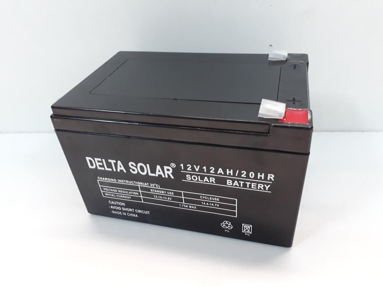 Аккумулятор для детских электромобилей Delta Solar. Батарея. 12 Вт/12 А Оригинал. Рассрочка. Kaspi RED